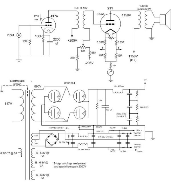 Vt on tube amp schematics