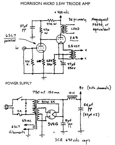 Simple 2a3 Schematic