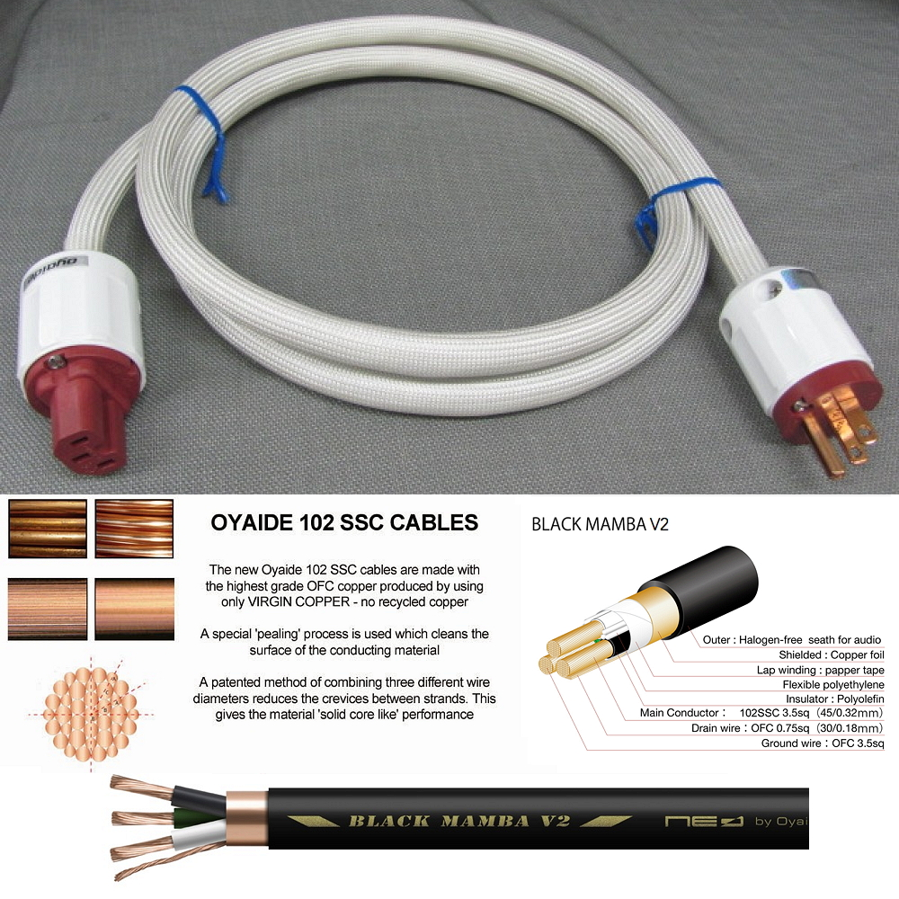 RE: Oyaide Black Mamba-Sigma V2 Power Cord - Duster - Cable Asylum